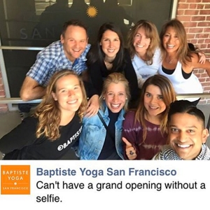 My amazing Baptiste yoga family - from near and far