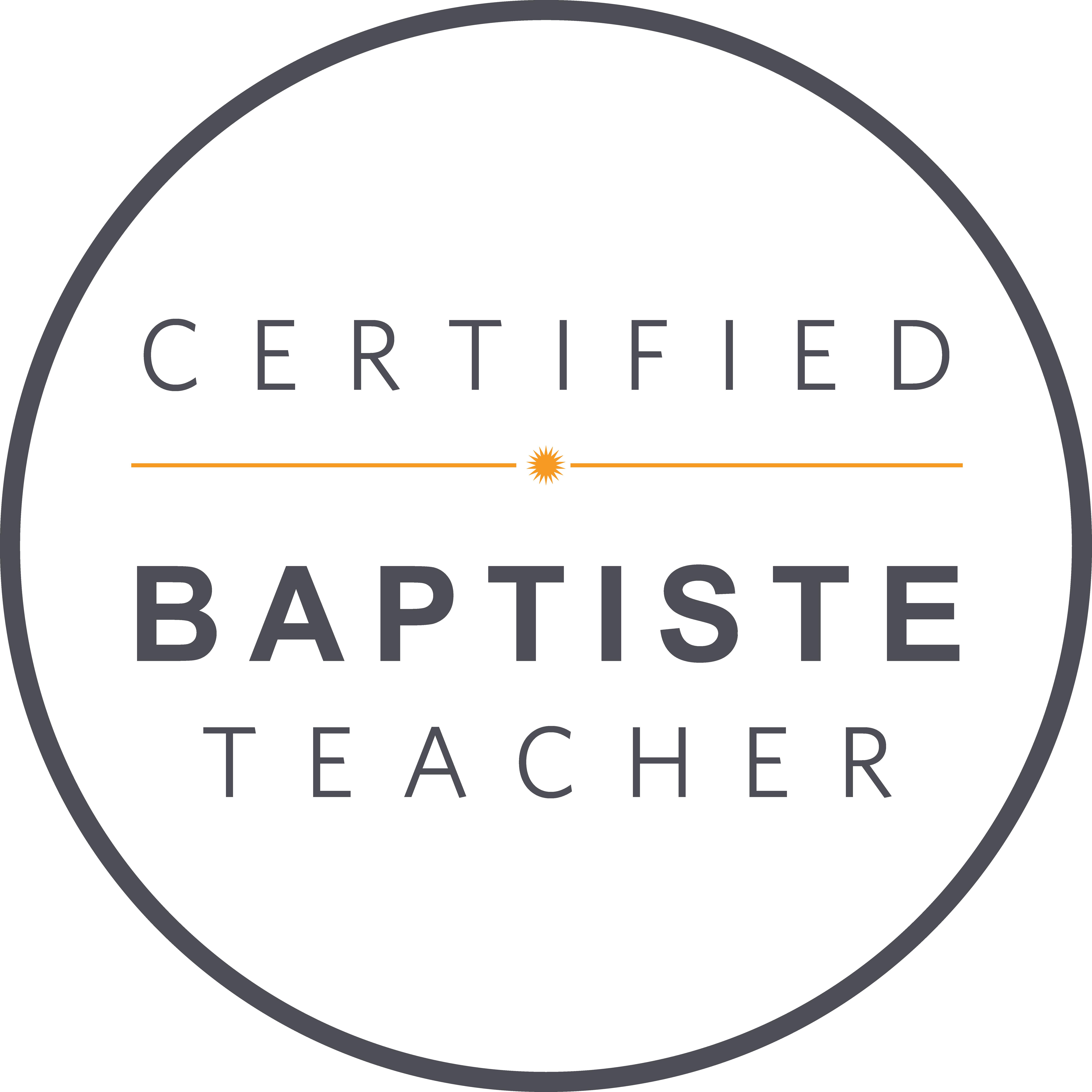 Certified Baptiste Teacher_grey orange